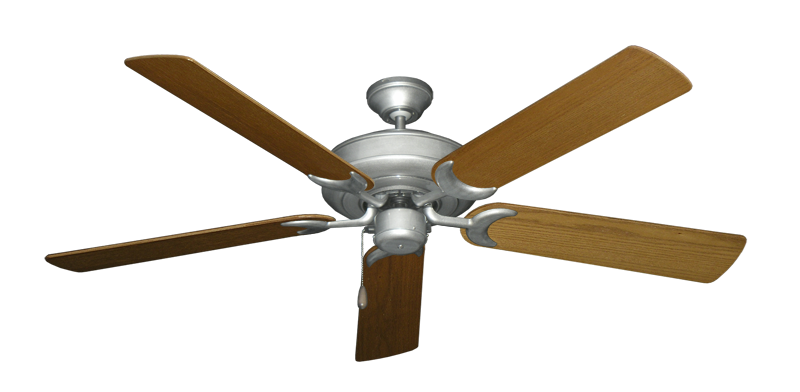 """Picture of Raindance Brushed Nickel BN-1 with 56"""" Light Oak Blades"""