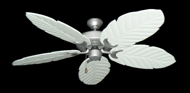 "Raindance Brushed Nickel BN-1 with 58"" Series 100 Arbor Pure White Blades"