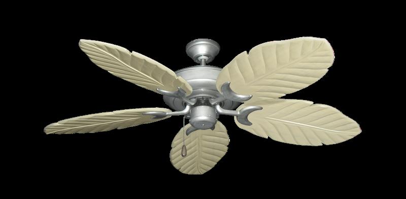 "Raindance Brushed Nickel BN-1 with 52"" Series 125 Arbor Whitewash Blades"