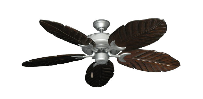 "Picture of Raindance Brushed Nickel BN-1 with 52"" Series 125 Arbor Dark Walnut Blades"