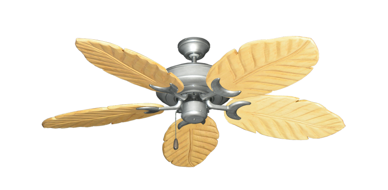 "Raindance Brushed Nickel BN-1 with 52"" Series 125 Arbor Maple Blades"