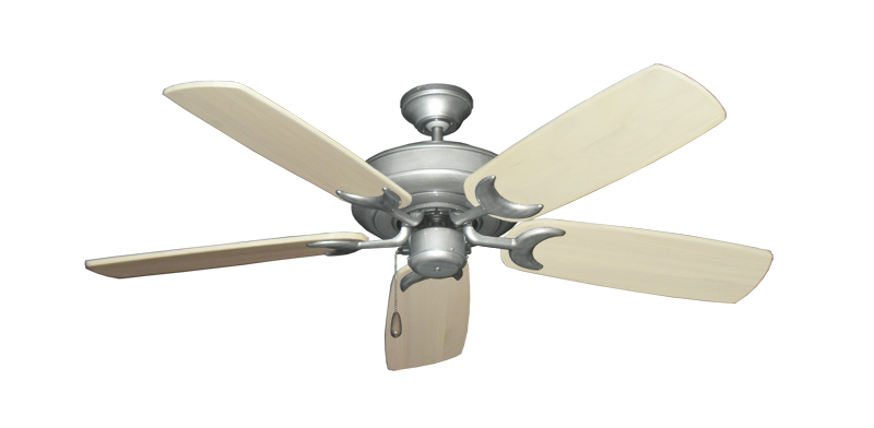 "Picture of Raindance Brushed Nickel BN-1 with 52"" Series 425 Arbor Whitewash Blades"