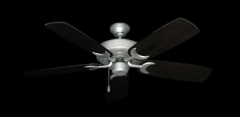"""Raindance Brushed Nickel BN-1 with 52"""" Series 425 Arbor Dark Walnut Blades"""