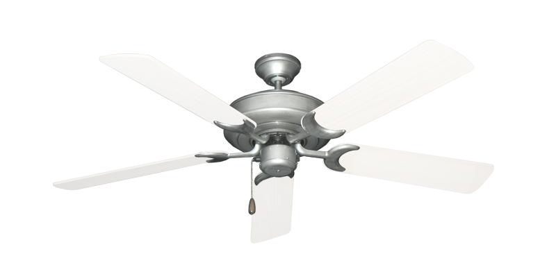 """Picture of Raindance Brushed Nickel BN-1 with 52"""" Outdoor Pure White Blades"""