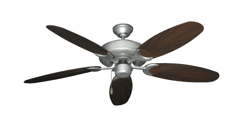 """Picture of Raindance Brushed Nickel BN-1 with 52"""" Outdoor Leaf Oil Rubbed Bronze Blades"""