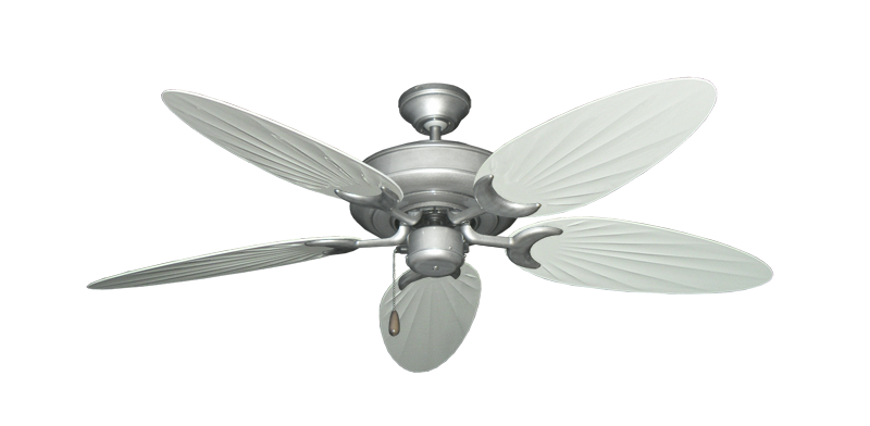 "Picture of Raindance Brushed Nickel BN-1 with 52"" Outdoor Palm Pure White Blades"