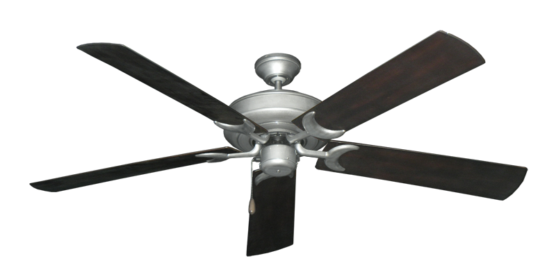 """Picture of Raindance Brushed Nickel BN-1 with 60"""" Outdoor Oil Rubbed Bronze Blades"""