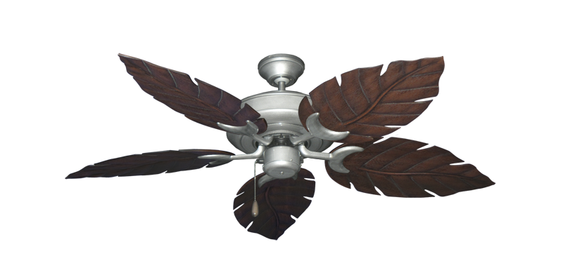 """Picture of Raindance Brushed Nickel BN-1 with 52"""" Venetian Oil Rubbed Bronze Blades"""