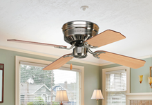 42'' Hugger Ceiling Fan in Brushed Nickel