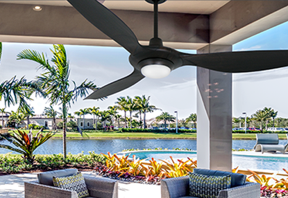 Picture of Vogue Plus 60 in. WiFi Enabled Indoor/Outdoor Oil Rubbed Bronze Ceiling Fan with LED Light