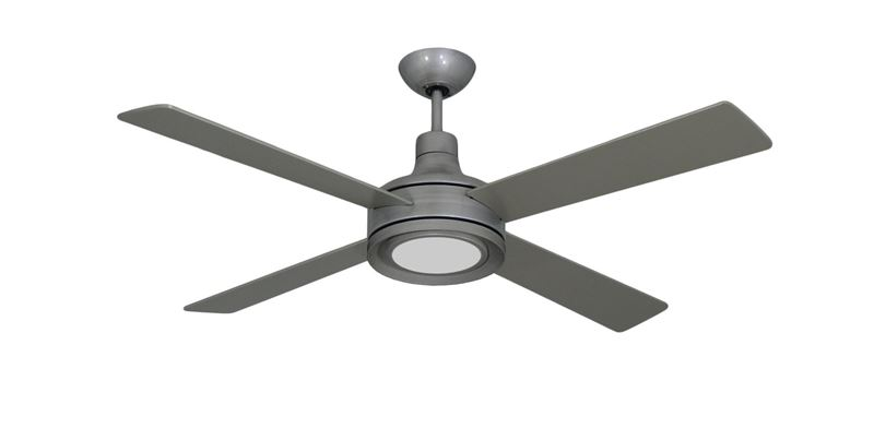 Picture of Quantum II 52 in. Brushed Nickel BN-1 Ceiling Fan w/ LED Light and Remote