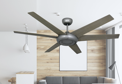 Picture of Elegant 60 in. Indoor/Outdoor Brushed Nickel Ceiling Fan