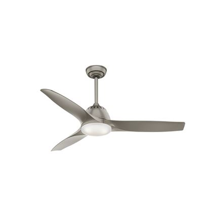 "Casablanca 52"" Wisp Pewter Ceiling Fan with LED Light and Handheld Remote, Model 59152"