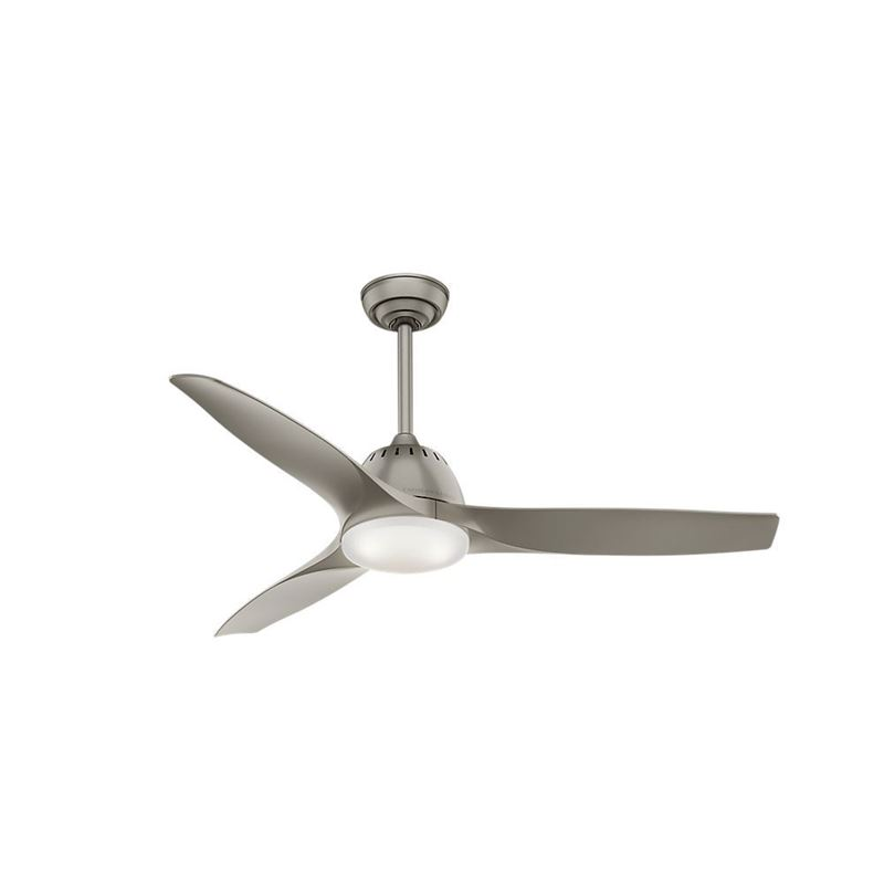 """Picture of Casablanca  52"""" Wisp Pewter Ceiling Fan with LED Light and Handheld Remote, Model 59152"""
