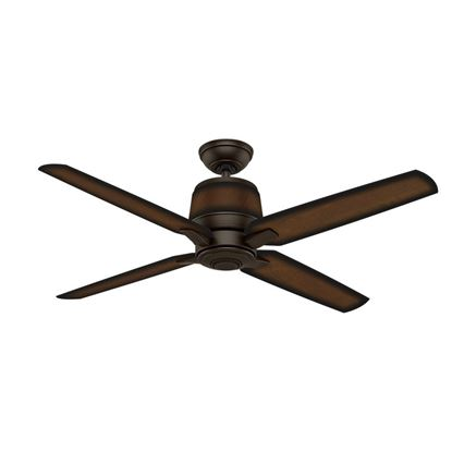 "Casablanca 54"" Aris Brushed Cocoa Ceiling Fan with Wall Control, Model 59124"