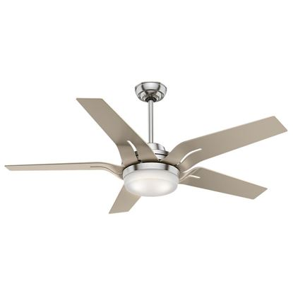 "Picture of Casablanca  56"" Correne LED Brushed Nickel Ceiling Fan with Light and Handheld Remote, Model 59197"