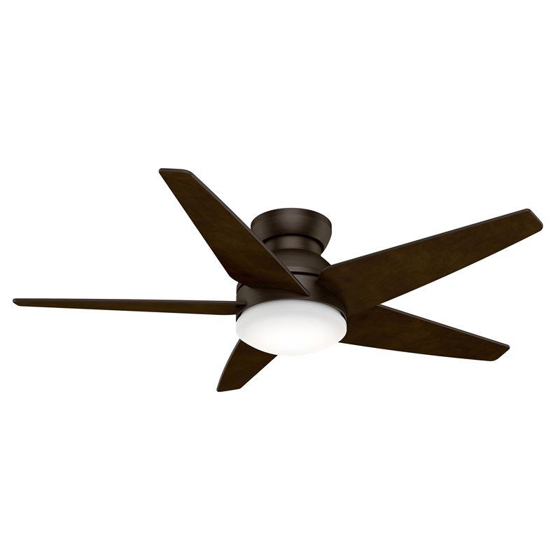 "Picture of Casablanca  52"" Isotope Brushed Cocoa Ceiling Fan with Light with Wall Control, Model 59356"
