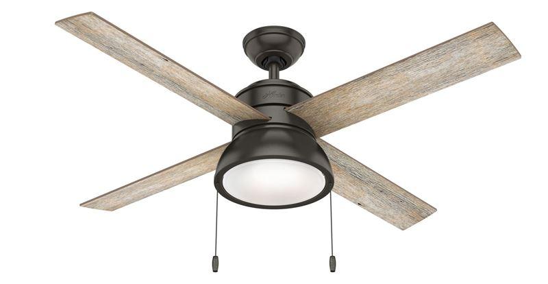 "Hunter 52"" Loki Noble Bronze Ceiling Fan with Light, Model 54152"
