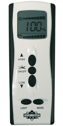 Picture of Handheld Remote Control with LED Dimming for DYF