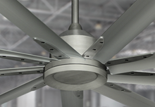 Liberator 96 in. WiFi Enabled Indoor/Outdoor Brushed Nickel Ceiling Fan and Remote (BN-1)