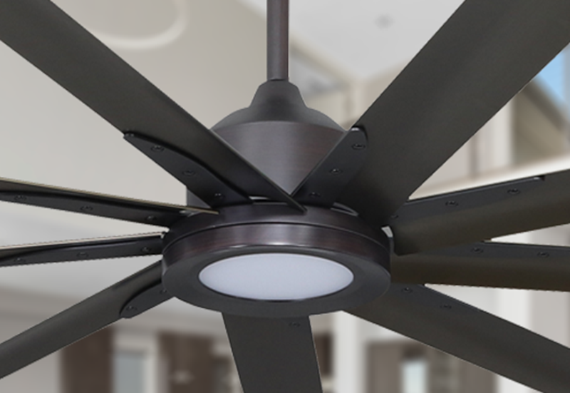 Liberator 96 in. WiFi Enabled Indoor/Outdoor Oil Rubbed Bronze Ceiling Fan With 18W LED Array Light and Remote