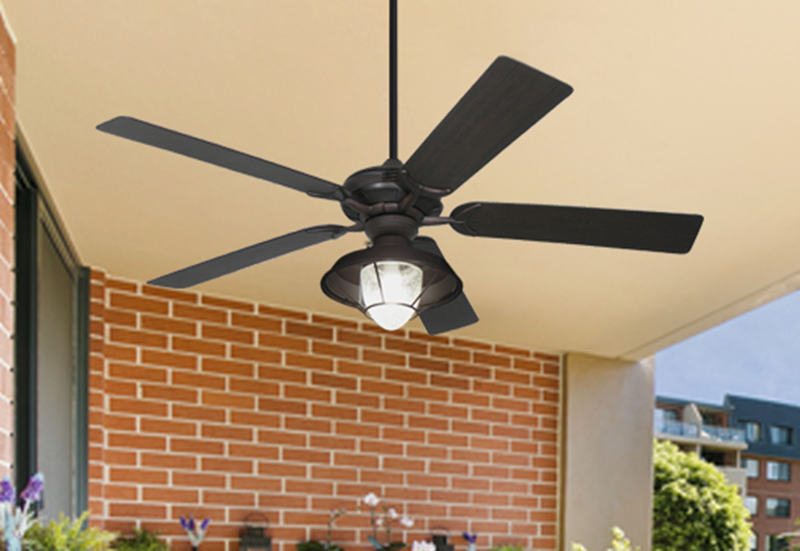 "Picture of Coastal Air Oil Rubbed Bronze WIFI with 52"" Outdoor Oil Rubbed Bronze Blades w/ #155 Outdoor Lantern Light and Remote"