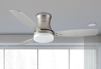 "Modernaire 52"" Satin Steel Ceiling Fan and Light"