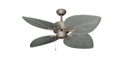 """Bombay Antique Bronze with 50"""" Bombay Brushed Nickel (BN-1) Blades"""