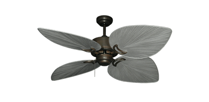 """Bombay Oil Rubbed Bronze with 50"""" Bombay Brushed Nickel (BN-1) Blades"""