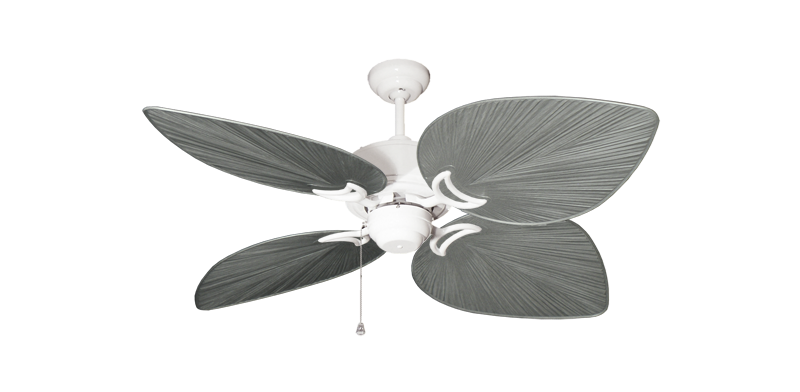 """Bombay Pure White with 50"""" Bombay Brushed Nickel (BN-1) Blades"""