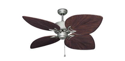 "Bombay Brushed Nickel (BN-1) with 50"" Bombay Oil Rubbed Bronze Blades"