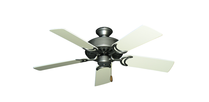 """Dixie Belle Brushed Nickel with 44"""" Antique White Blades"""