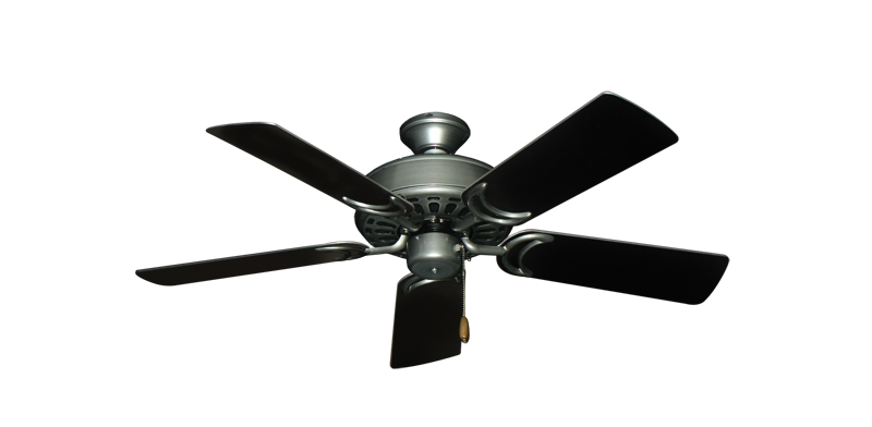 """Dixie Belle Brushed Nickel with 44"""" Black Blades"""