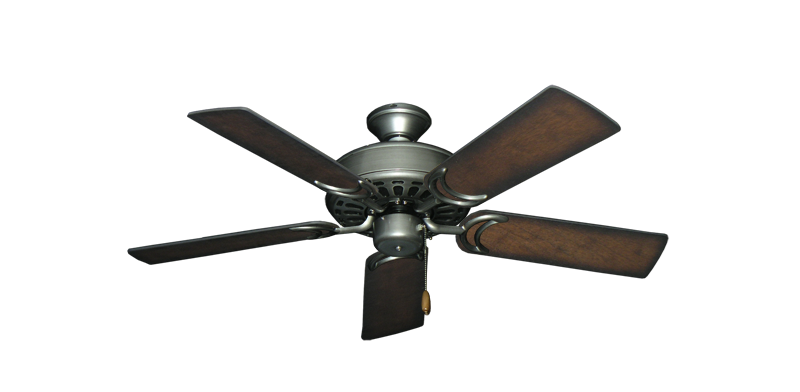 "Picture of Dixie Belle Brushed Nickel with 44"" Distressed Hickory Blades"