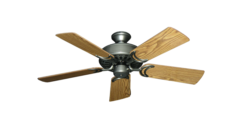 """Picture of Dixie Belle Brushed Nickel with 44"""" Oak Gloss Blades"""