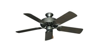 "Picture of Dixie Belle Brushed Nickel with 44"" Outdoor Oil Rubbed Bronze Blades"