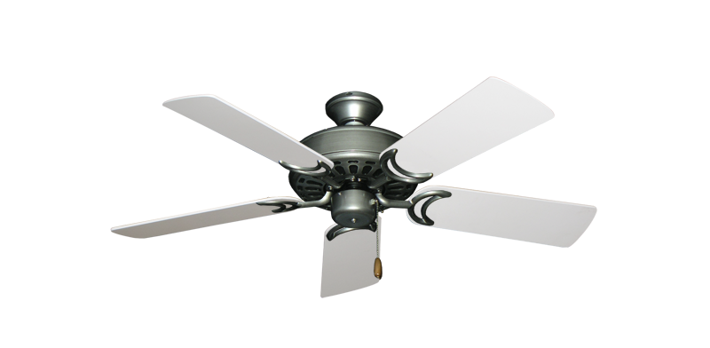 """Picture of Dixie Belle Brushed Nickel with 44"""" Pure White Blades"""