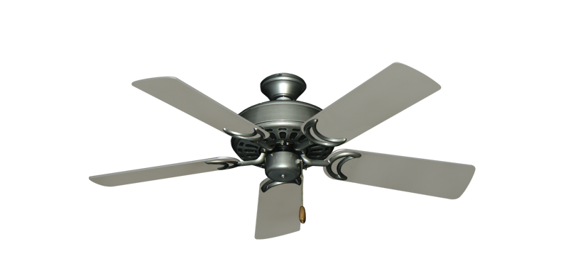 "Dixie Belle Brushed Nickel with 44"" Satin Steel (painted) Blades"