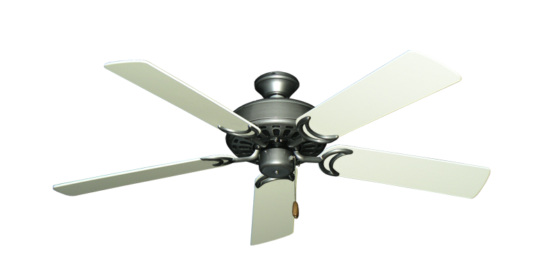 """Picture of Dixie Belle Brushed Nickel with 52"""" Antique White Blades"""