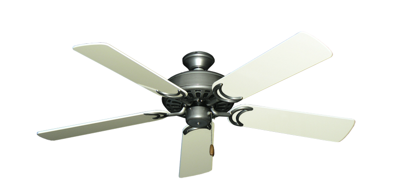 "Picture of Dixie Belle Brushed Nickel with 52"" Antique White Gloss Blades"