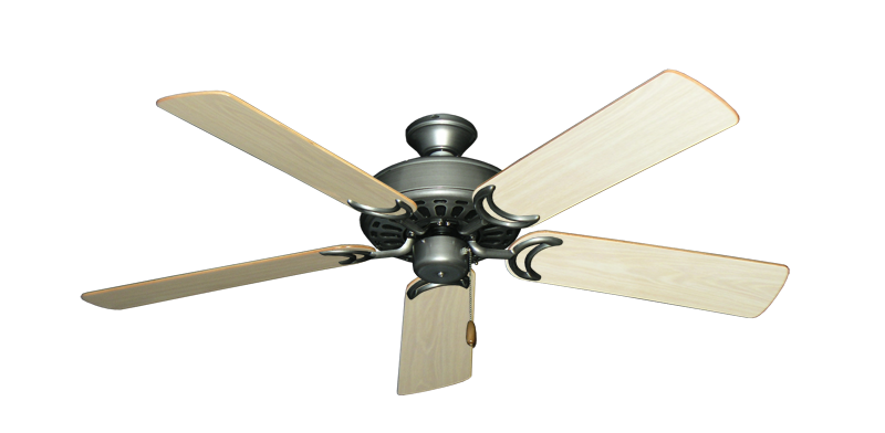 "Picture of Dixie Belle Brushed Nickel with 52"" Bleached Oak Gloss Blades"