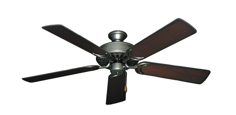 "Picture of Dixie Belle Brushed Nickel with 52"" Distressed Cherry Blades"