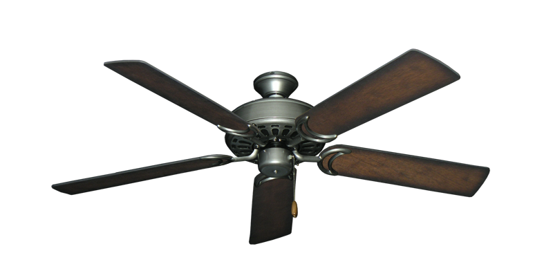 """Picture of Dixie Belle Brushed Nickel with 52"""" Distressed Hickory Blades"""