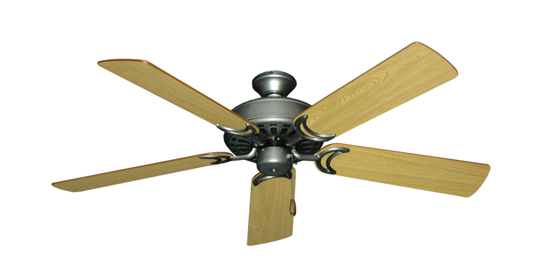 "Picture of Dixie Belle Brushed Nickel with 52"" Honey Oak Blades"