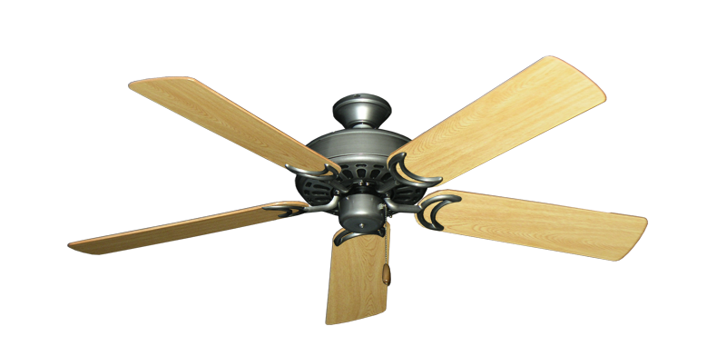 "Picture of Dixie Belle Brushed Nickel with 52"" Honey Oak Gloss Blades"