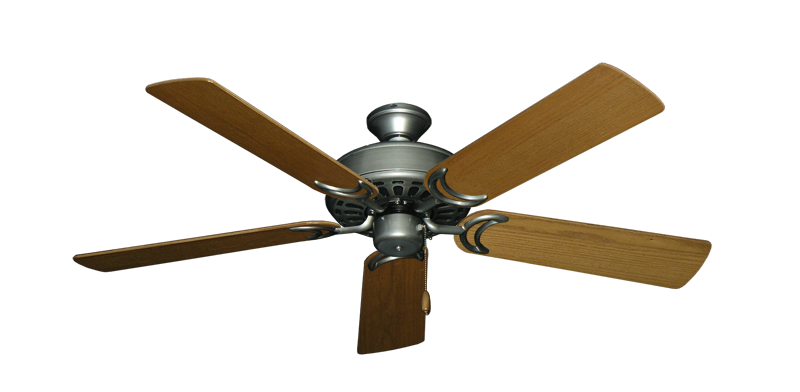 """Picture of Dixie Belle Brushed Nickel with 52"""" Light Oak Blades"""