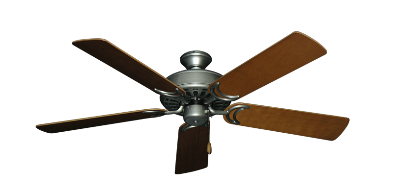 """Picture of Dixie Belle Brushed Nickel with 52"""" Natural Cherry Blades"""