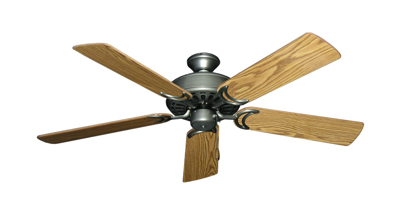 "Picture of Dixie Belle Brushed Nickel with 52"" Oak Gloss Blades"