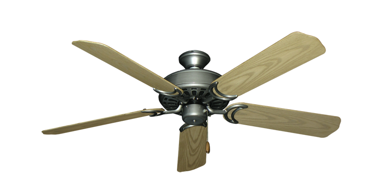 "Dixie Belle Brushed Nickel with 52"" Outdoor Bleached Oak Blades"