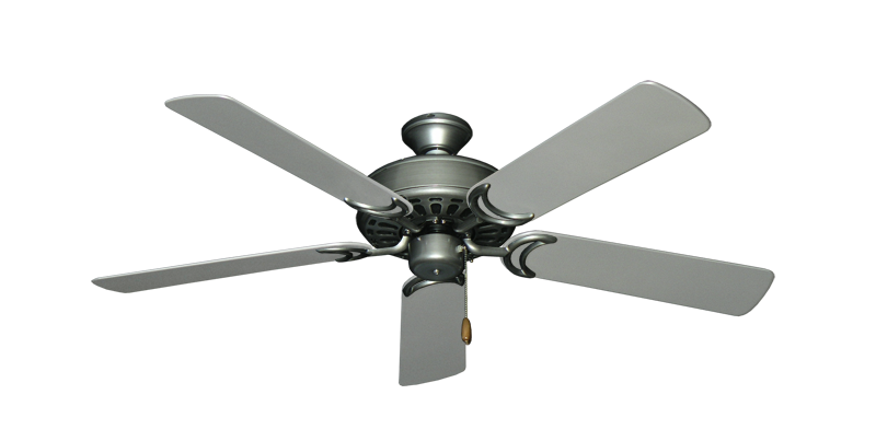 """Dixie Belle Brushed Nickel with 52"""" Outdoor Brushed Nickel Blades"""